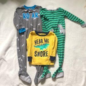 Bundle of Boys Dinosaur Pajamas Size 24M